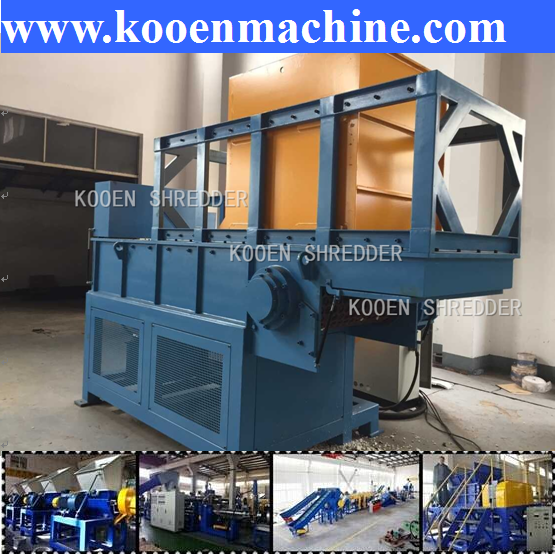 KOOEN large capacity shredder plastic bag machine waste pe pp plastic film shredding machine