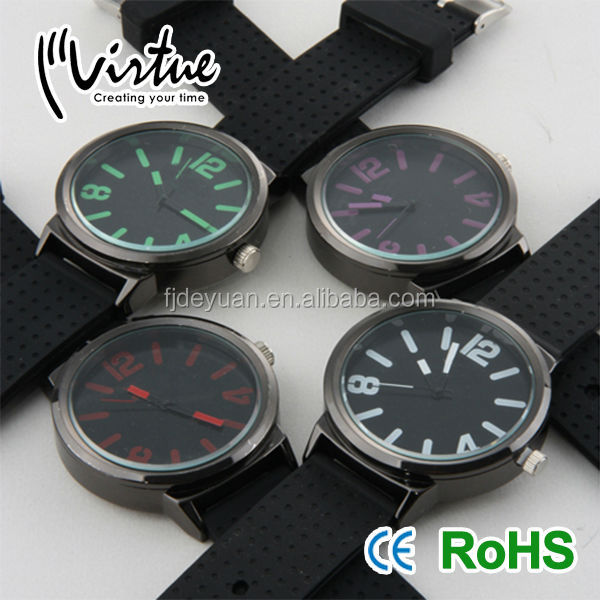 Black new design silicone mens vogue watches