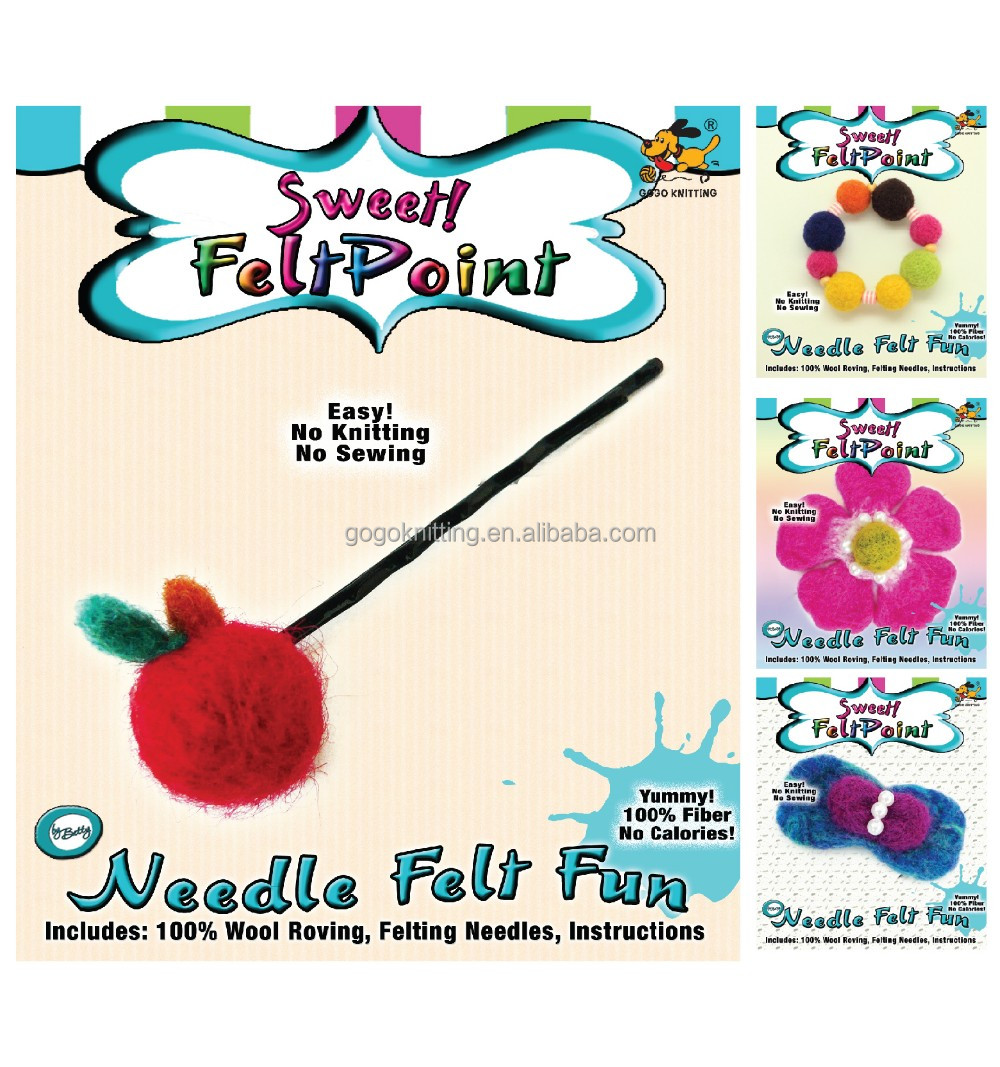 Pin Wool felting needle point DIY kit