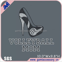 Volleyball Mom High Heeled Shoes Rhinestone Transfer Designs