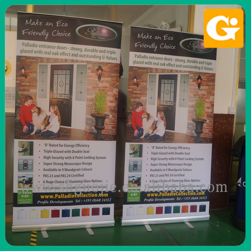 Roller banner stand printing for sale
