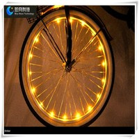 LED string light for bicycle wheel