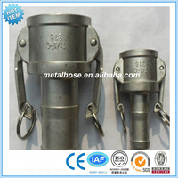 Female/Male threaded camlock coupling