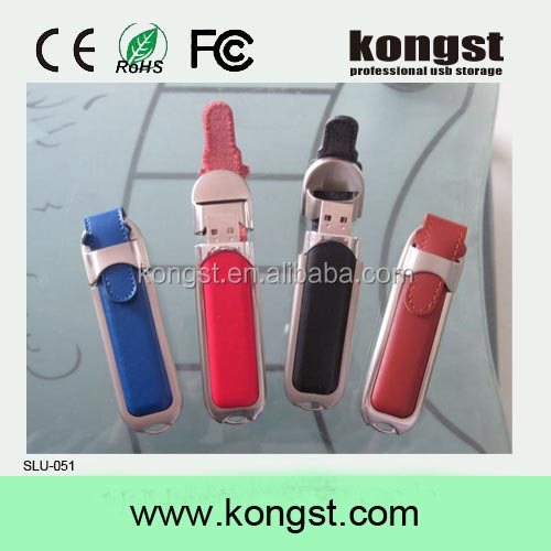 Fashion flash 16gb usb 2.0 Leather USB Flash Disk Business USB 2016