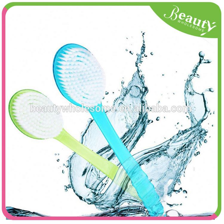 body sponge with handle ,H0T030 pe bath brush