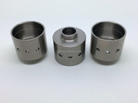 CNC machining bushing polished stainless steel sleeve shaft with eccentric holes