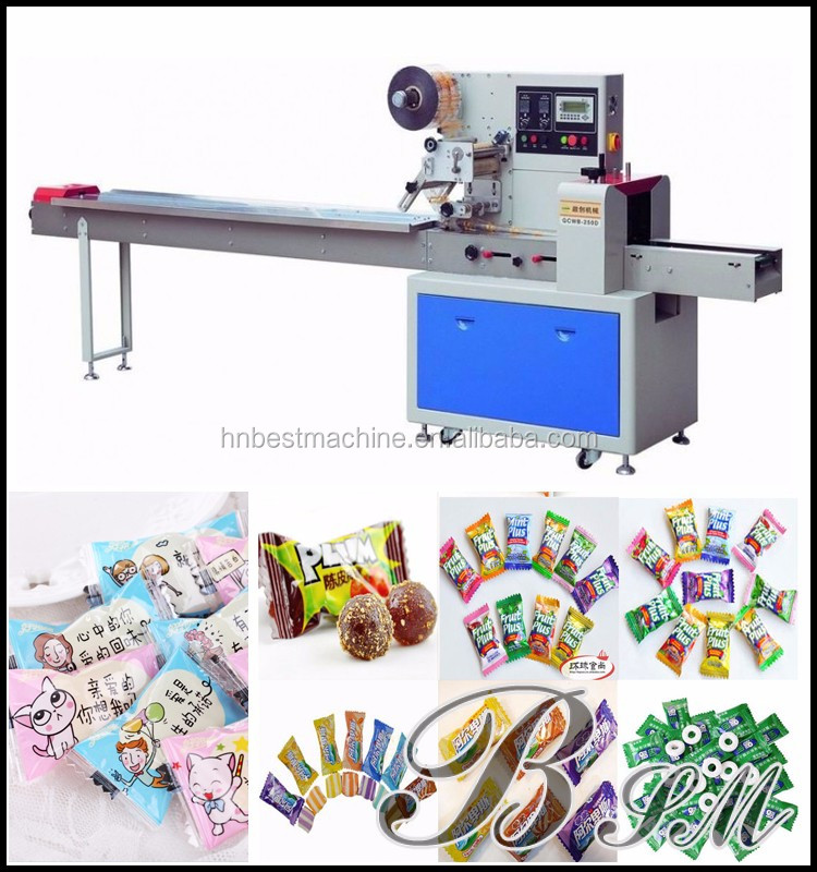 Tanzania free sample Automatic chocolate bar/candy/snack packaging machine