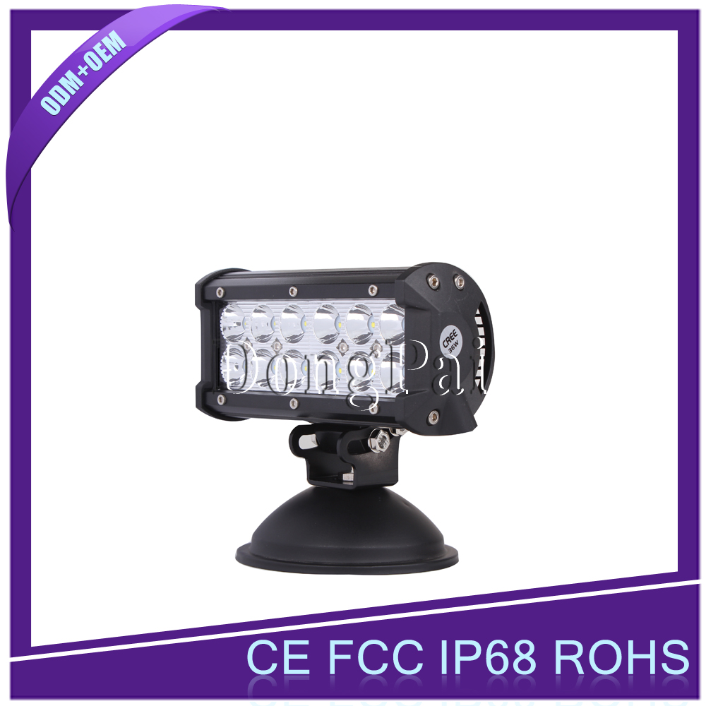 36w led off road light bar rotating light bar