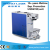 China bestseller portable mini steel pipe 20W fiber laser marking machine price with 20Khz-80Khz