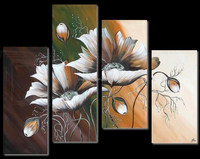 Wall decorative modern painting picture ideas on canvas group oil painting 4 pcs per set