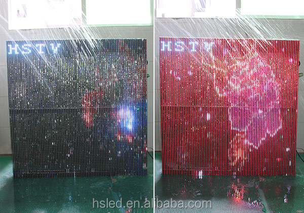 P15.625-15.625mm Outdoor SMD Led Strip Curtain Display/led curtain display/Transparent Led Screen
