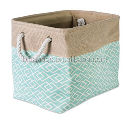 Printed Polyester, Collapsible and Convenient Storage Bin To Organize Office, Bedroom, Closet, Kid's Toys