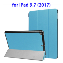 2017 New Arrival Horizontal Flip Leather Case for iPad 9.7 2017 Case