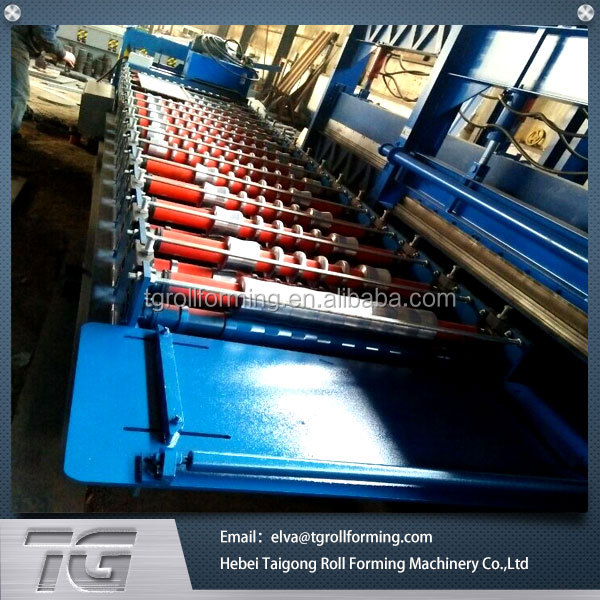 Newly molding steel sheet piles cold roll forming machine