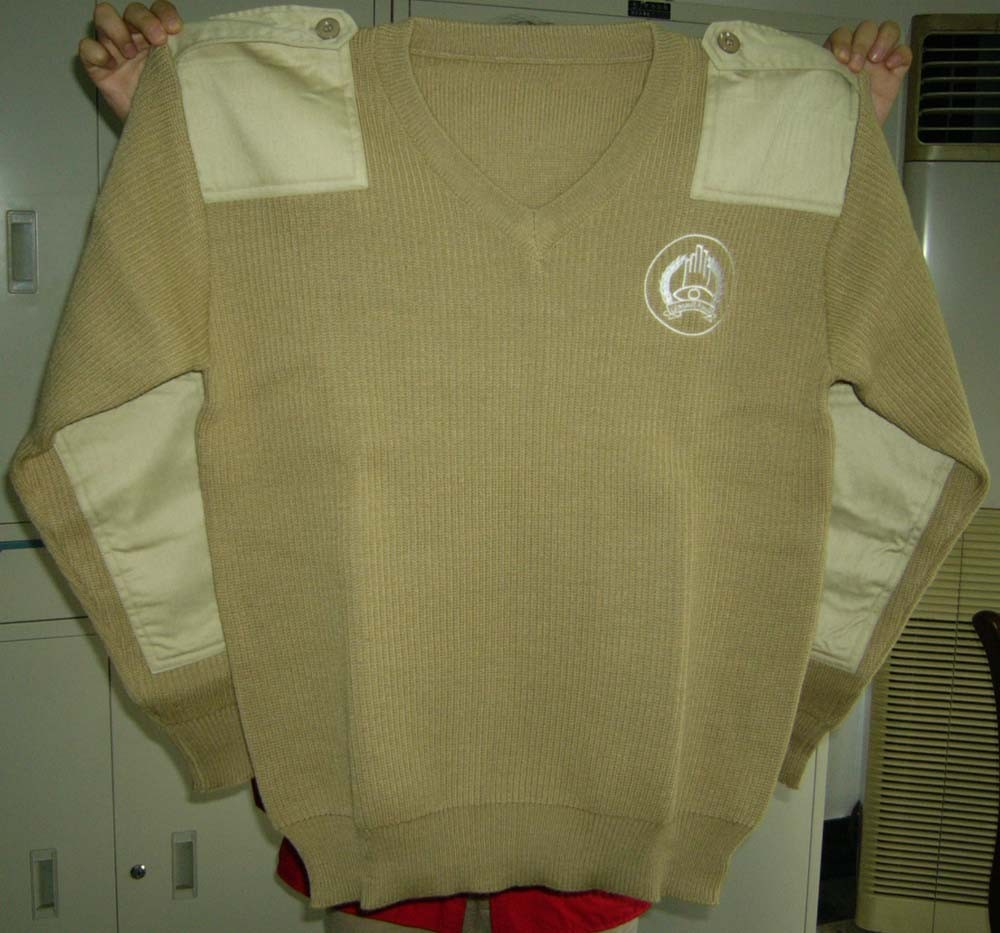 military wool pullover