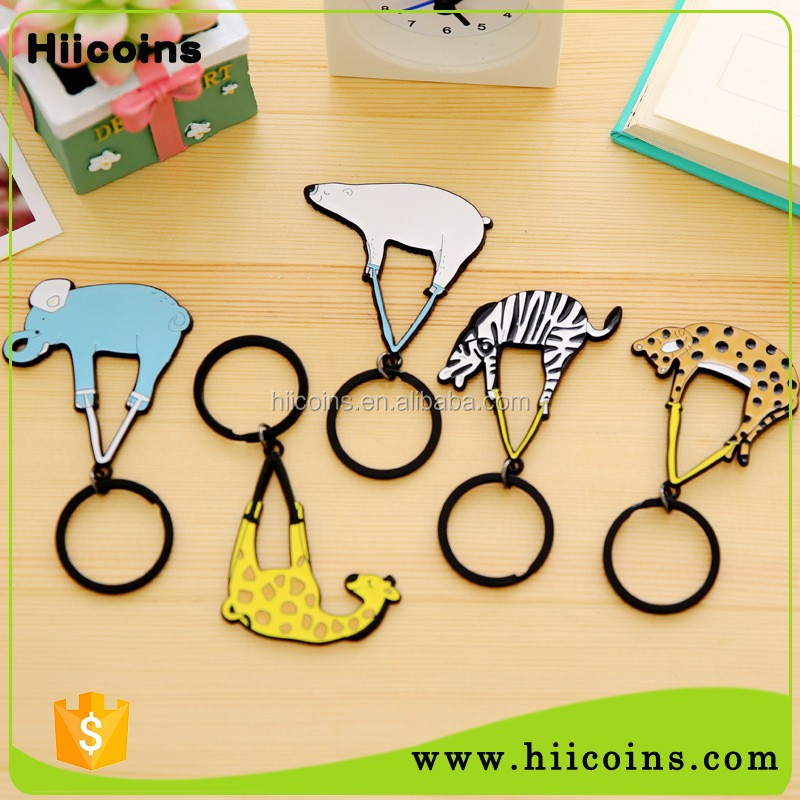 Factory Promotional Gift Soft enamel Souvenir Custom Metal Animal Keychain