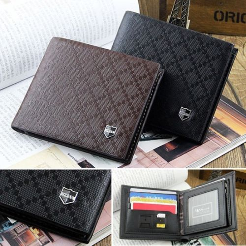 Fashion Mens Leather Wallet Pockets Card Holder Clutch Bifold Men Purse