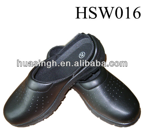 XM,dirty resistant black Italy slipper,clog style multi functional cleanroom shoes