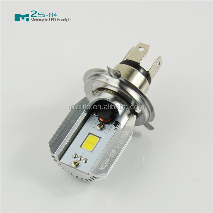 Most popular M2S-H4 H9 COB led light 12W 24V 800lm hi/lo beam led motorcycle headlight