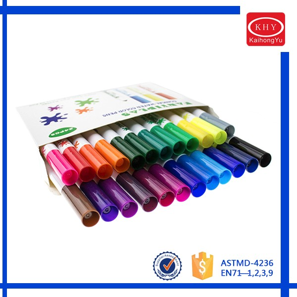 Multi-colors high quality non-toxic and washable water color pen
