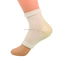 Heel protector with essential oil ,very polular for skin care,Gel heel socks with holes