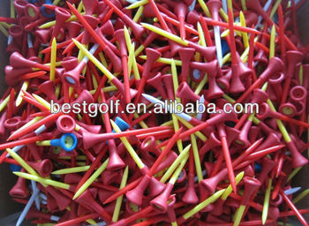 T154 Hot Sell Rubber Top Plastic Golf Tee, Rubber Tee