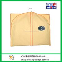 Non Woven Dustproof Garment Bag with Window and Logo Printing