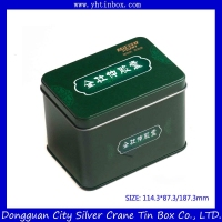 Rectangular drugs tin can