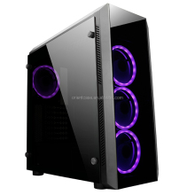 LCD Display Entry Level ATX Desktop PC Gaming Case With Tempered Glass Side Panel and RGB fan