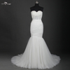 TW0191Illusion Pleat Simple Holy White Mermaid Wedding Dress