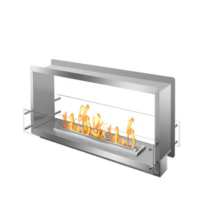 inno fire 72inch frame firebox  intelligent remote control ethanol double sided fireplace