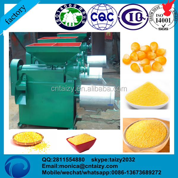 2017 TW-SH small stainless steel human <strong>food</strong> maize corn grits peeling milling machine