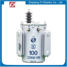Pole Mounted circle shape 167 kva single phase oil immersed distribution transformer