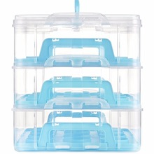 Plastic 3 Tier Hold Mini Cupcake Carrier cake Storage Container Wholesale