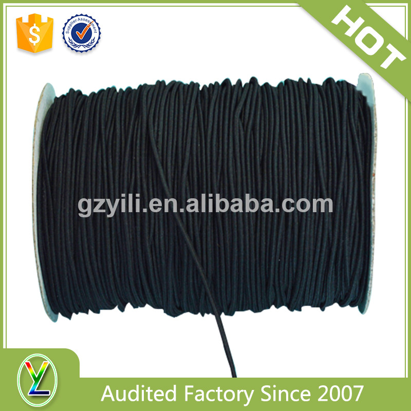 Multi-style elastic polyester draw cord, round polyester draw cords