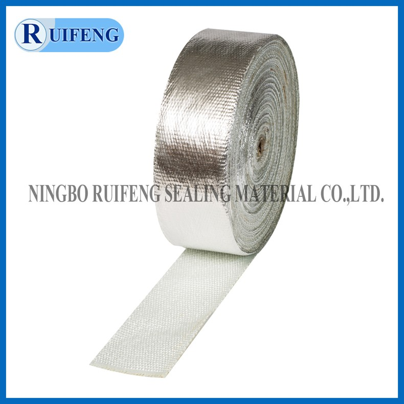 Fiberglass fabric coated with aluminum