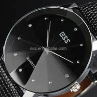 2015 New Arrival Fashion leather slim watch design for men Vintage style wrist watch WM020-ESS