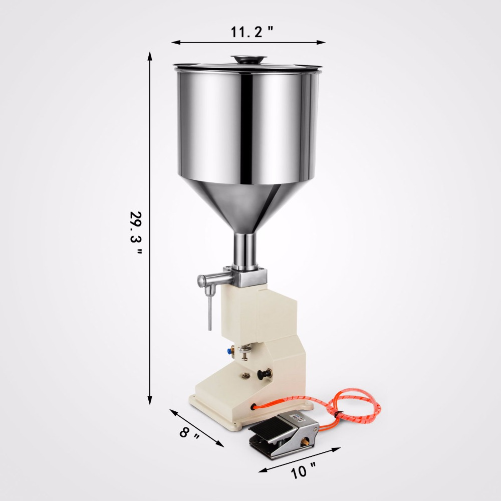 <strong>A02</strong> Pneumatic Liquid Paste Filling Machine for Cream Shampoo Cosmetic