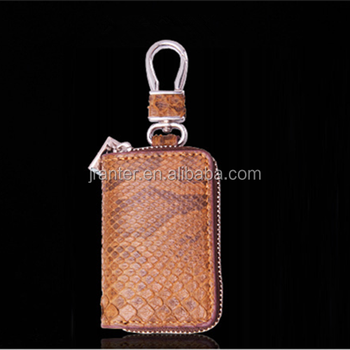 Custom Size Color Genuine Python Leather Car Key Case Handy Key Holder