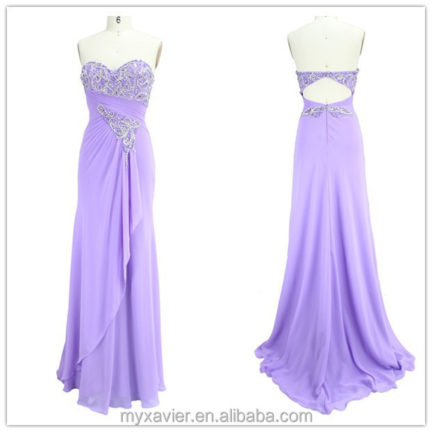 Purple chiffon elegant beaded bra top evening prom dress for ladies, mother of the bride dress, bridesmaid maxi long dress