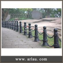 Arlau Steel Chain Barrier, Street Cast Iron Bollard, Removable Surface Mounted Stainless Steel Bollards