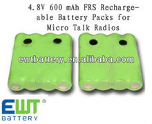 4.8v 600mah aaa ni-mh rechargeable battery pack for micro talk radio