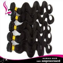 Discount price and hot selling body wave indian hair bun