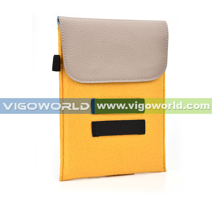 Mixed fabric Non wowen simple style pouch for ipad mini for ipad mini retina protection sleeve