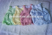 Boutique Baby Boy Girl Seersucker Rompers Casual Summer Newborn Stripes Ruffle Bodysuit