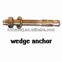 zinc plated steel Wedge anchor