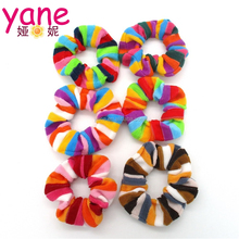 Wholesale new designs rubber hair srunchies ponytail hair band for girls