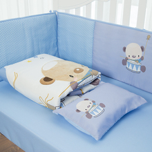 embroidery best fabric infant nursing bedding set can be customized