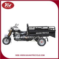 KAVAKI basic model hot sale three wheel motorcycle KV200ZH- C black cargo tricycle made for village in guangzhou china