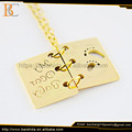 book necklace baby set jewelry 14k gold stainless steel